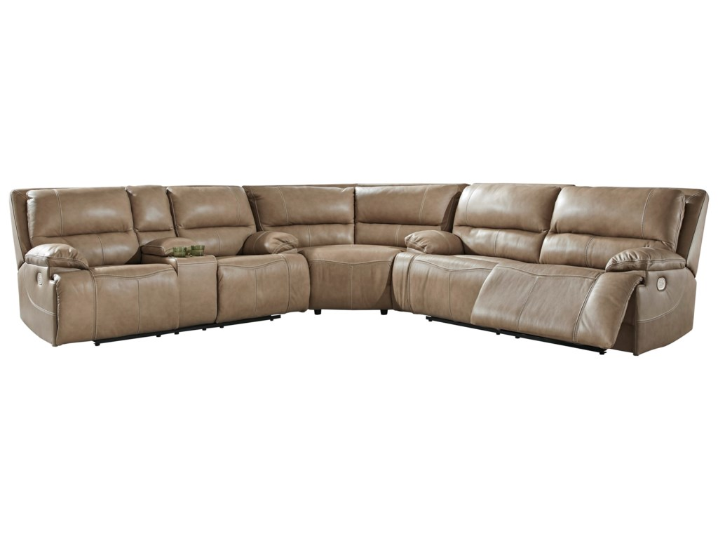 Signature Design by Ashley Ricmen3-Piece Power Reclining Sectional