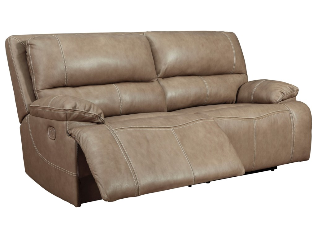 Signature Design by Ashley Ricmen2-Seat Power Reclining Sofa w/ Adj Headrests