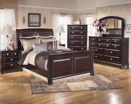 Signature Design by Ashley Ridgley 4 Piece Queen Bedroom Group