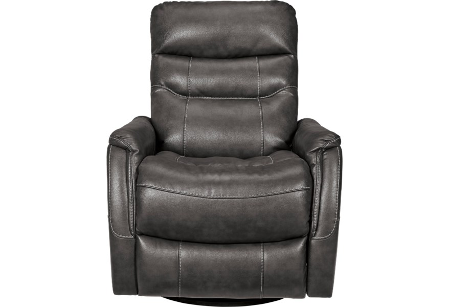 Ashley Signature Design Riptyme Contemporary Faux Leather Swivel Glider Recliner Johnny Janosik Recliners