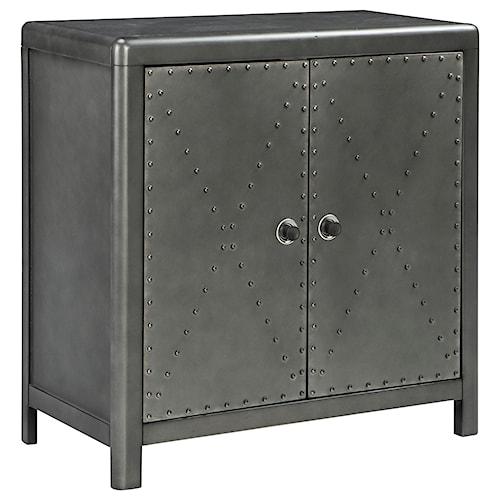 Signature Design by Ashley Rock Ridge Industrial 2-Door Accent Cabinet