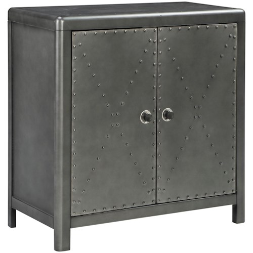 Signature Design by Ashley Rock Ridge Industrial 2-Door Accent Cabinet