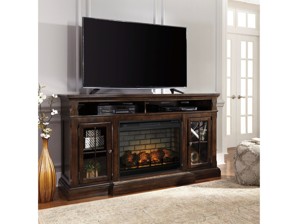 Signature Design by Ashley RoddintonExtra Large TV Stand with Fireplace Insert