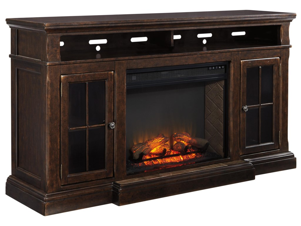 Signature Design by Ashley RoddintonExtra Large TV Stand w/ Fireplace Insert