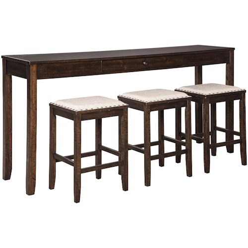 Signature Design by Ashley Rokane Counter Height Dining Set for Three