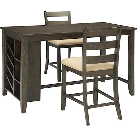 3-Piece Rectangular Counter Table Set