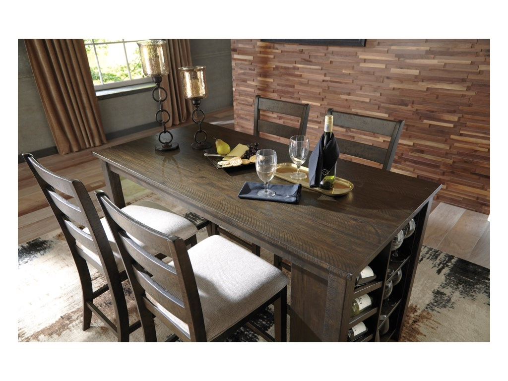 Signature Design by Ashley Rokane5-Piece Rectangular Counter Table Set