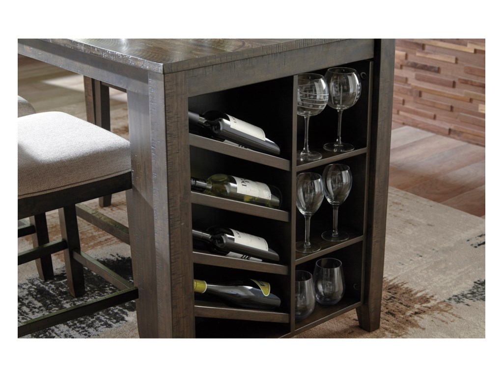 Signature Design by Ashley RokaneRectangular Counter Table w/ Storage