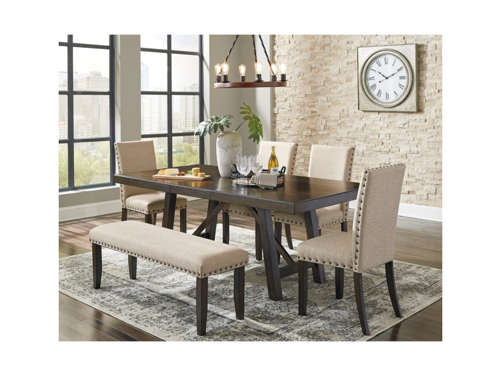 Signature Design by Ashley RokaneDining Table Set with Bench
