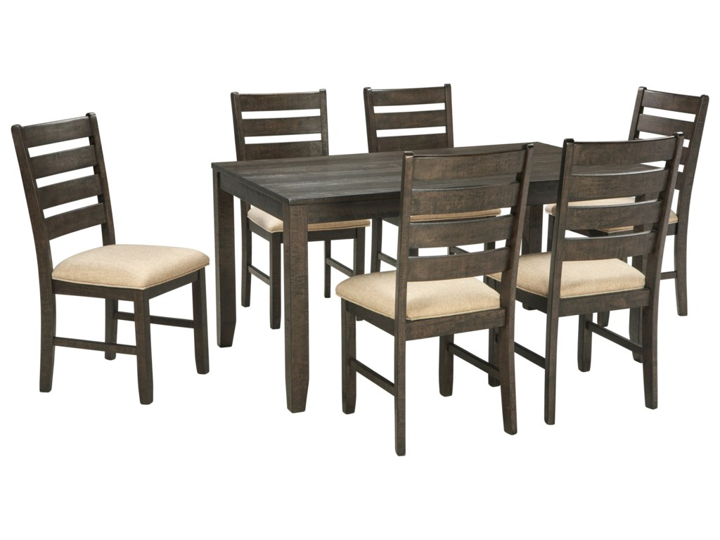 Signature design by ashley rokane7 piece dining room table set