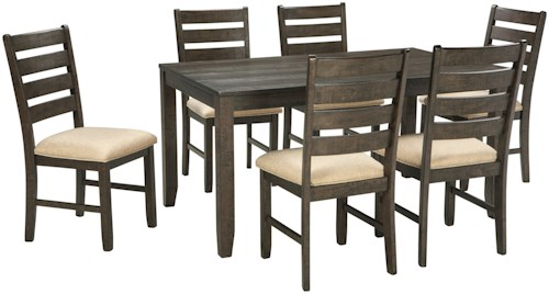 Signature Design by Ashley Rokane Contemporary 7-Piece Dining Room ...