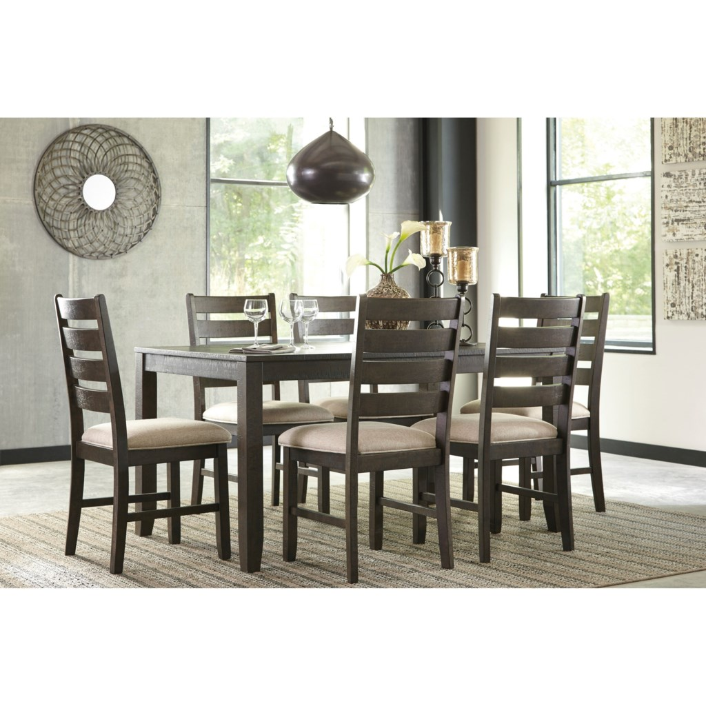 signature design by ashley rokane contemporary 7 piece dining room