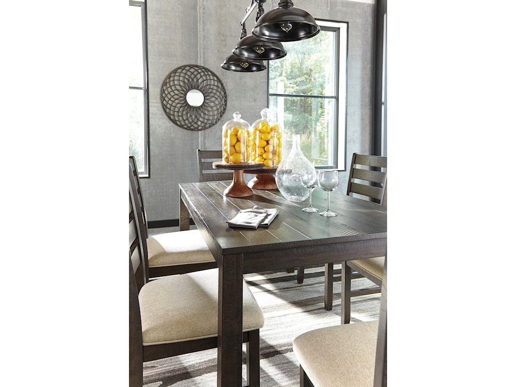 Ashley (Signature Design) Rokane7-Piece Dining Room Table Set