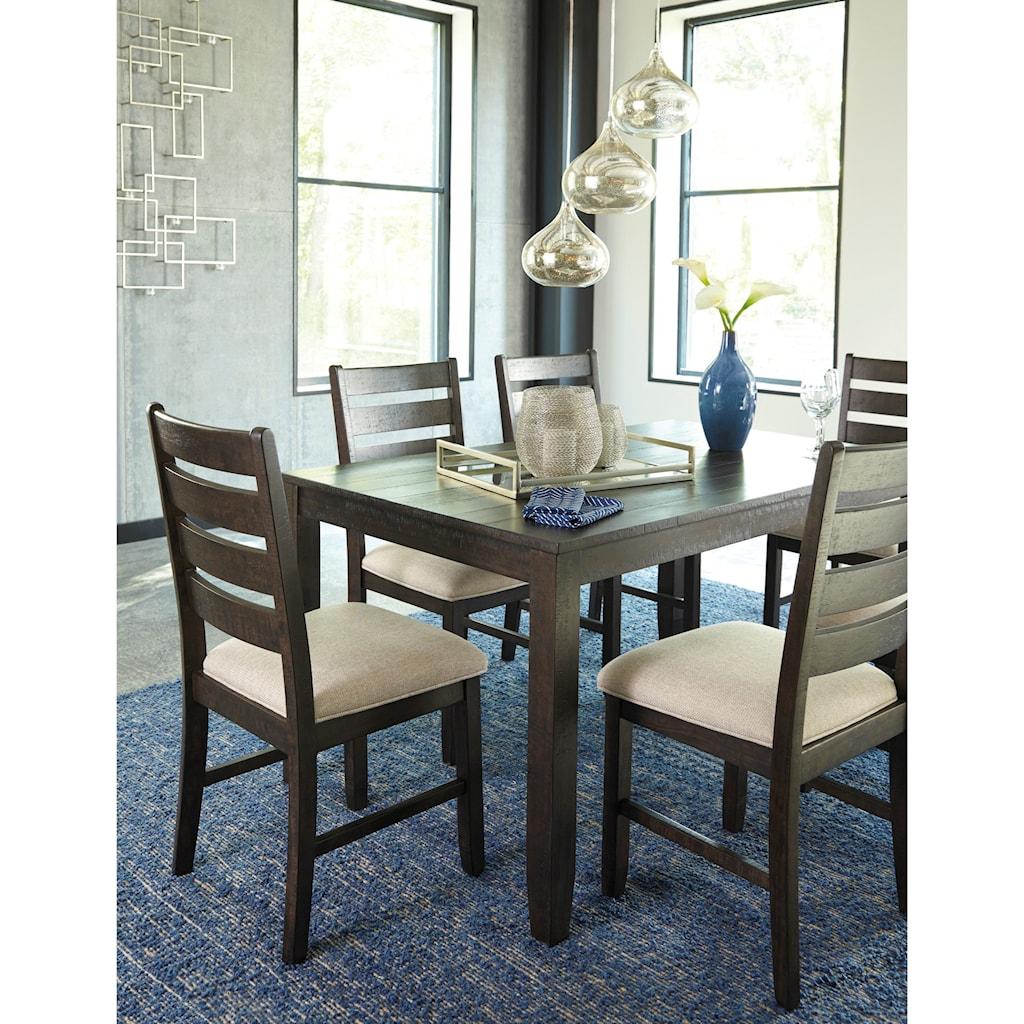 signature designashley rokane contemporary 7-piece dining room