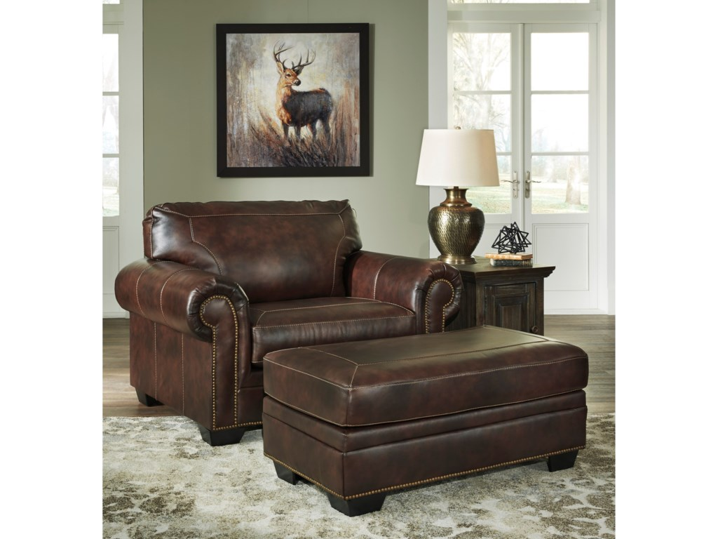 Signature Design by Ashley RolesonChair and a Half and Ottoman