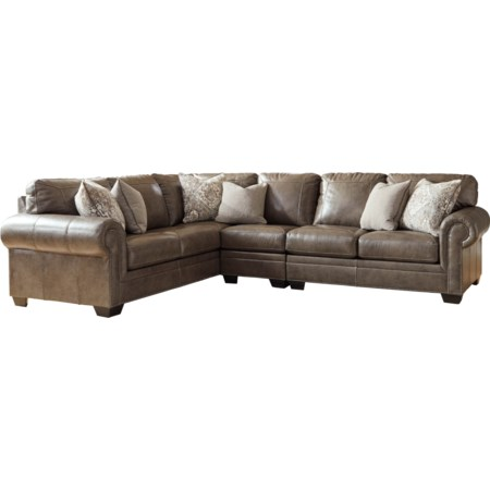 3-Piece Leather Sectional