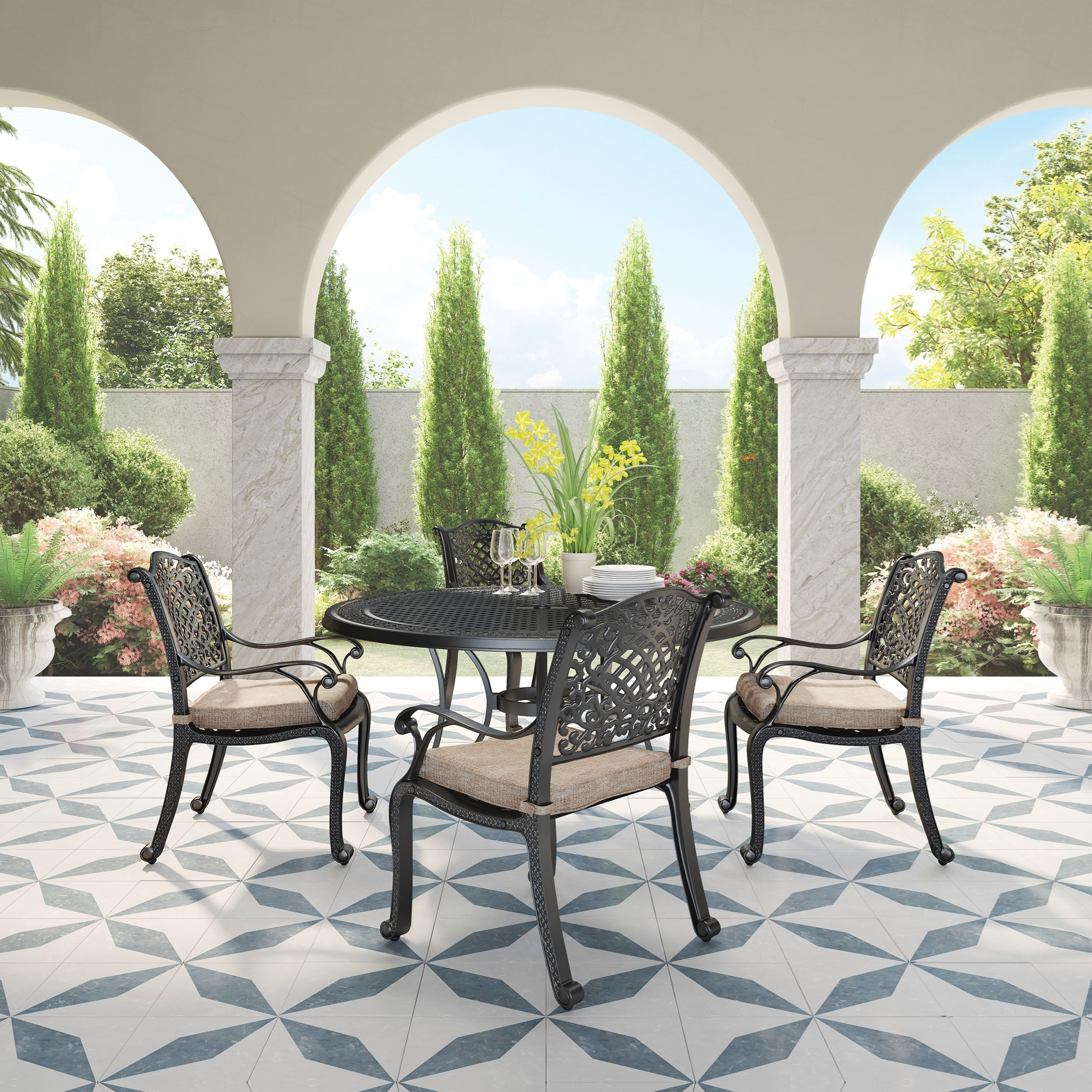 Rose View 5 Piece Outdoor Dining Set By Signature Design By Ashley