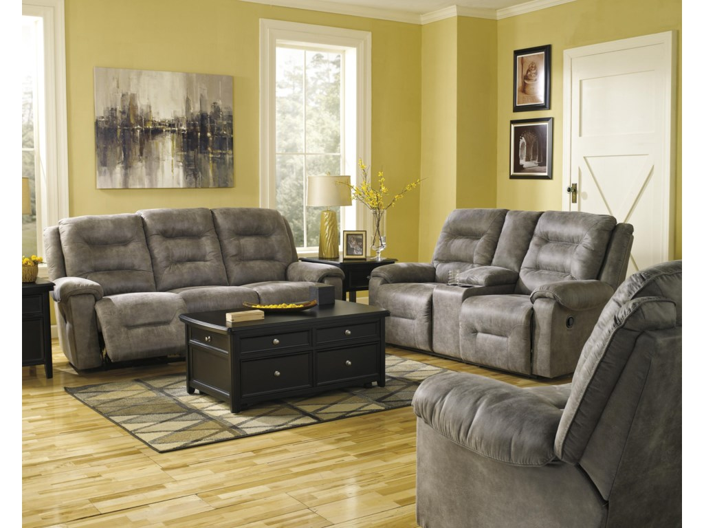 Signature Design by Ashley Rotation - SmokeReclining Living Room Group