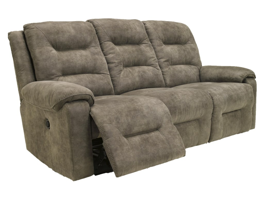 Signature Design by Ashley Rotation - SmokeReclining Power Sofa