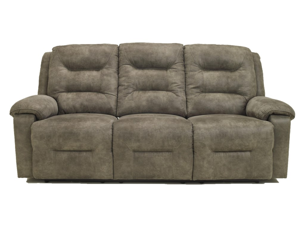 Signature Design by Ashley Rotation - SmokeReclining Sofa