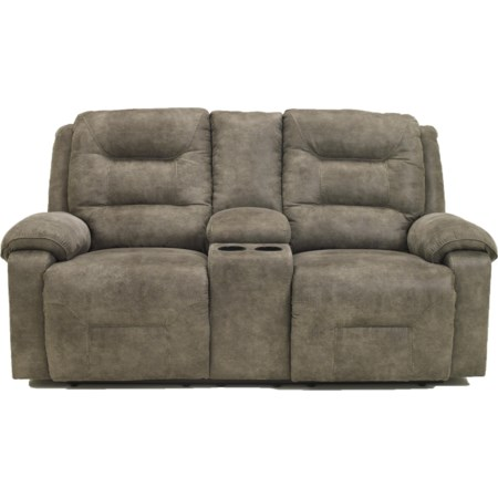 Power Reclining Loveseat w/Console
