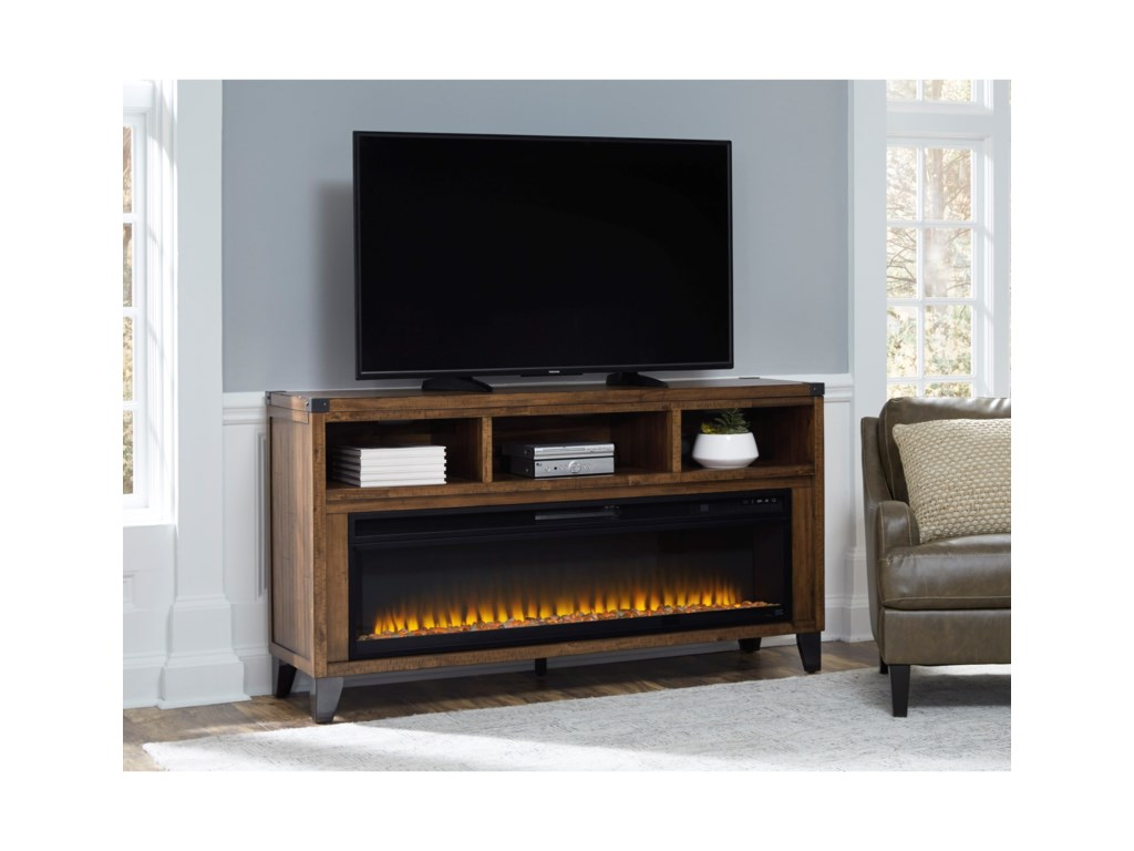 Signature Design by Ashley RoyardLarge TV Stand w/ Fireplace Insert