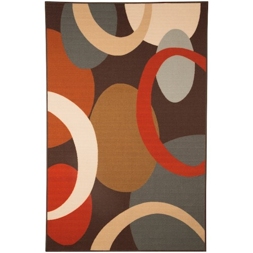 Signature Design By Ashley Contemporary Area Rugs Acciai Brown Blue Medium Rug