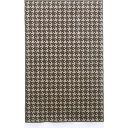 Houndstooth - Ash Small Rug