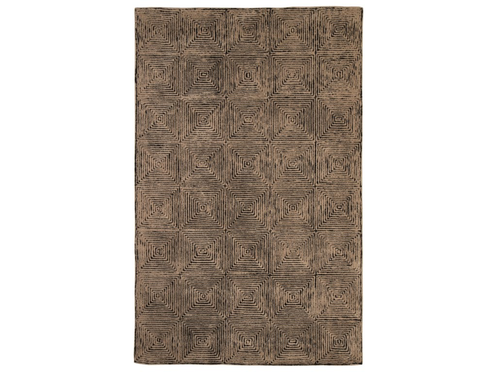 Signature Design by Ashley Contemporary Area RugsKanan Taupe/Black Medium Rug