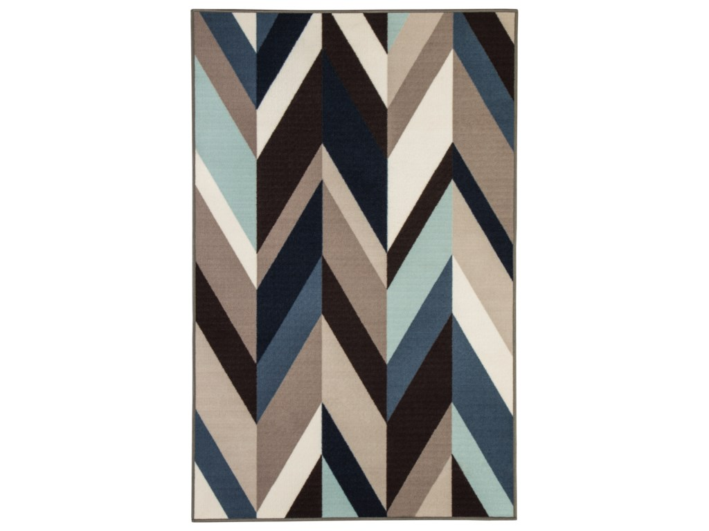 Signature Design by Ashley Contemporary Area RugsKeelia Blue/Brown/Gray Rug