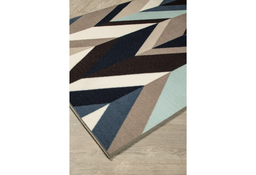 Contemporary Area Rugs Keelia Blue Brown Gray Rug By Signature Design Ashley At Houston S Yuma Furniture