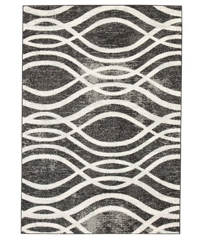 Signature Design by Ashley Contemporary Area RugsAvi Gray/White Medium Rug