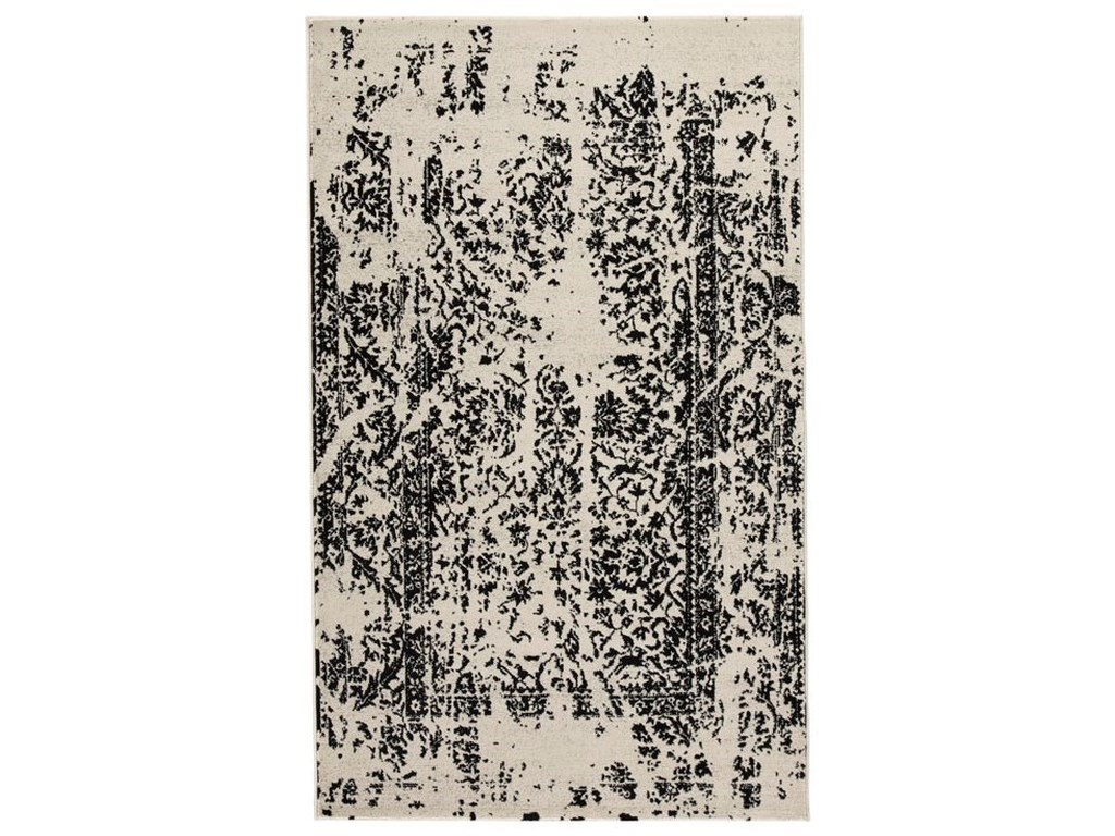 Signature Design by Ashley Contemporary Area RugsJag Black/White Large Rug