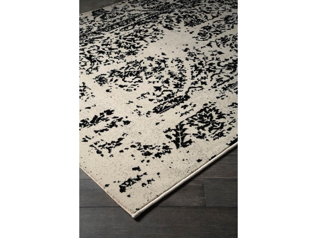 Ashley Signature Design Contemporary Area RugsJag Black/White Large Rug
