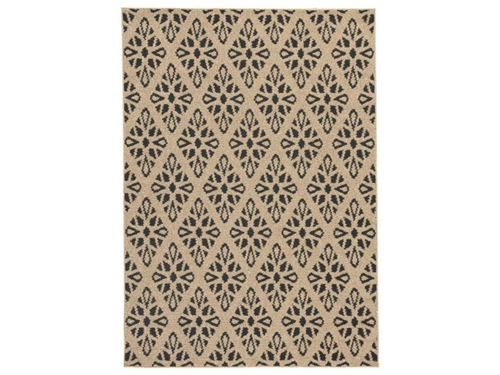 Signature Design by Ashley Contemporary Area RugsJerrod Black/Tan Large Rug