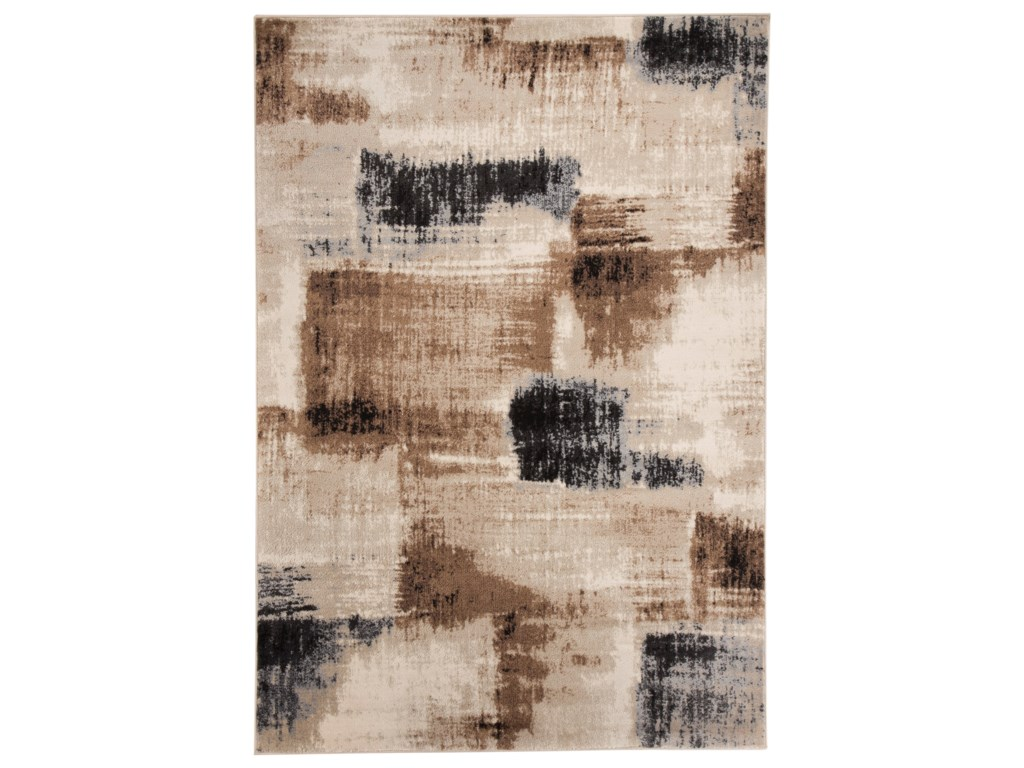 Signature Design by Ashley Contemporary Area RugsCalvin Brown/Black Large Rug