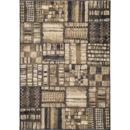 Hilliard Black/Brown Medium Rug