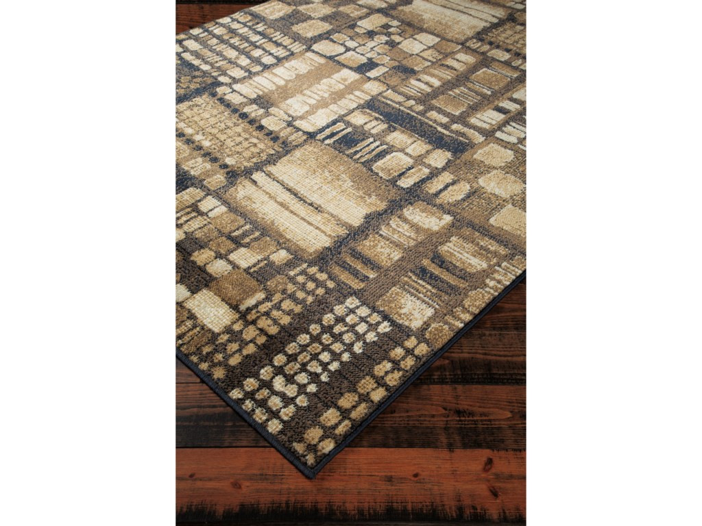 Signature Design by Ashley Contemporary Area RugsHilliard Black/Brown Large Rug