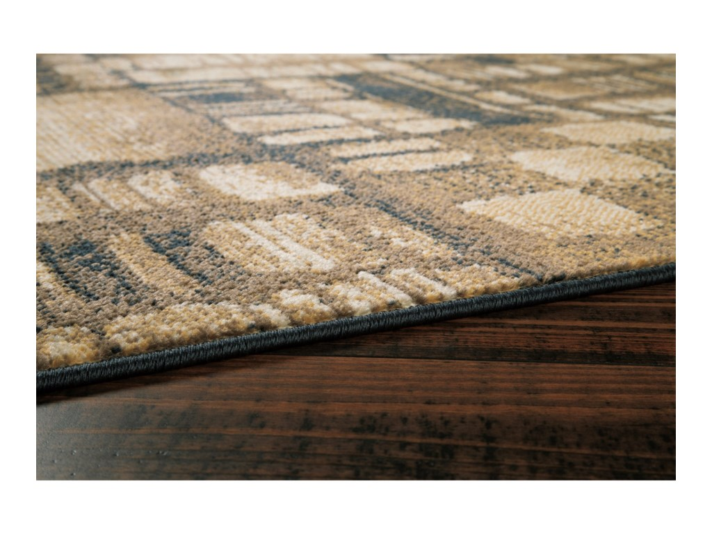 Signature Design by Ashley Contemporary Area RugsHilliard Black/Brown Medium Rug