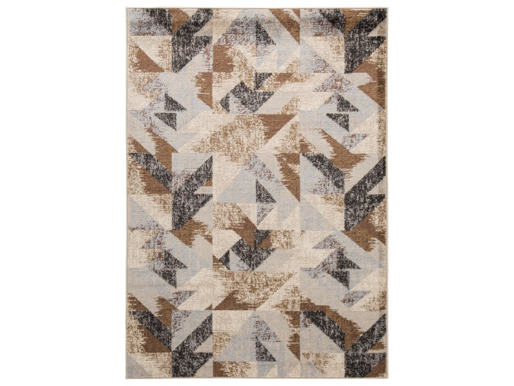 Trendz Contemporary Area RugsJun Multi Large Rug