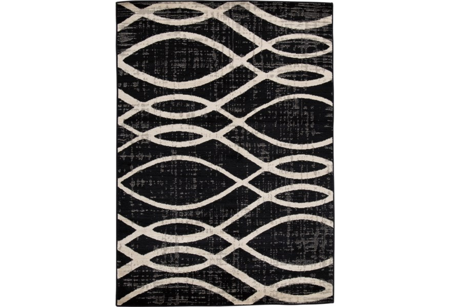 Contemporary Area Rugs Avi Gray White