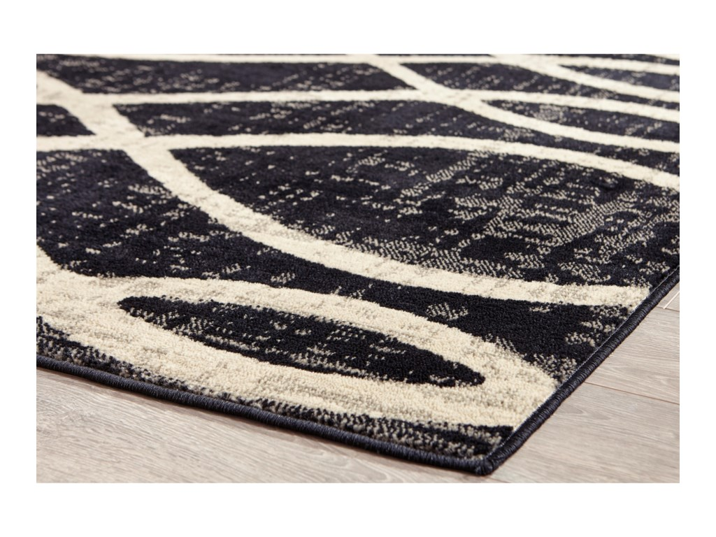Signature Design by Ashley Contemporary Area RugsAvi Gray/White Large Rug