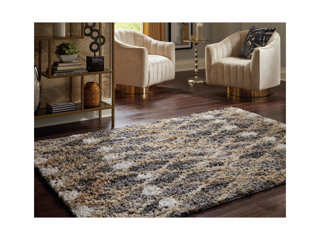 Signature Design by Ashley Contemporary Area RugsVinmore Tan/Gray Large Rug