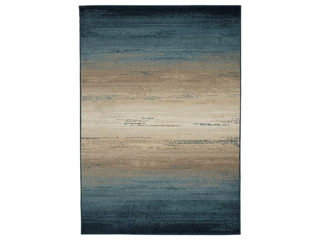 Signature Design by Ashley Contemporary Area RugsIgnacio Blue/Tan Large Rug