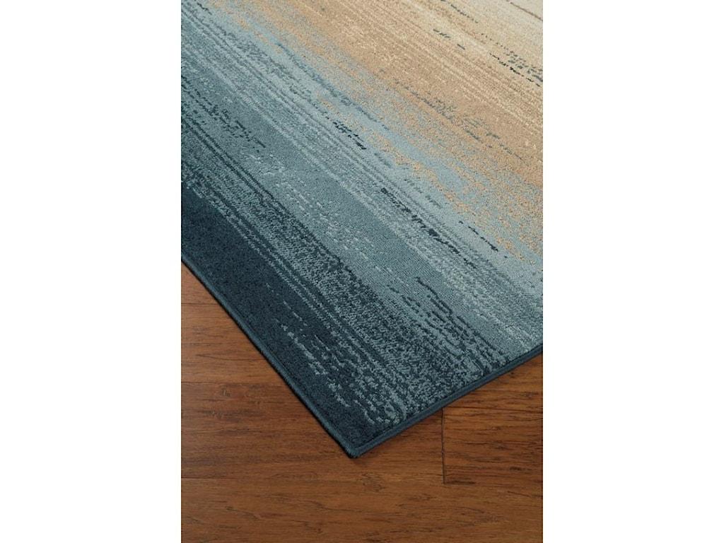Ashley Signature Design Contemporary Area RugsIgnacio Blue/Tan Large Rug