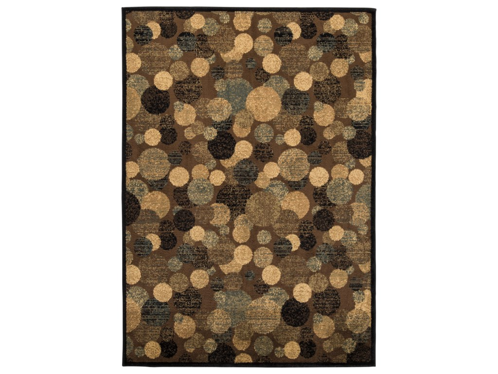 Ashley Signature Design Contemporary Area RugsVance Brown Large Rug