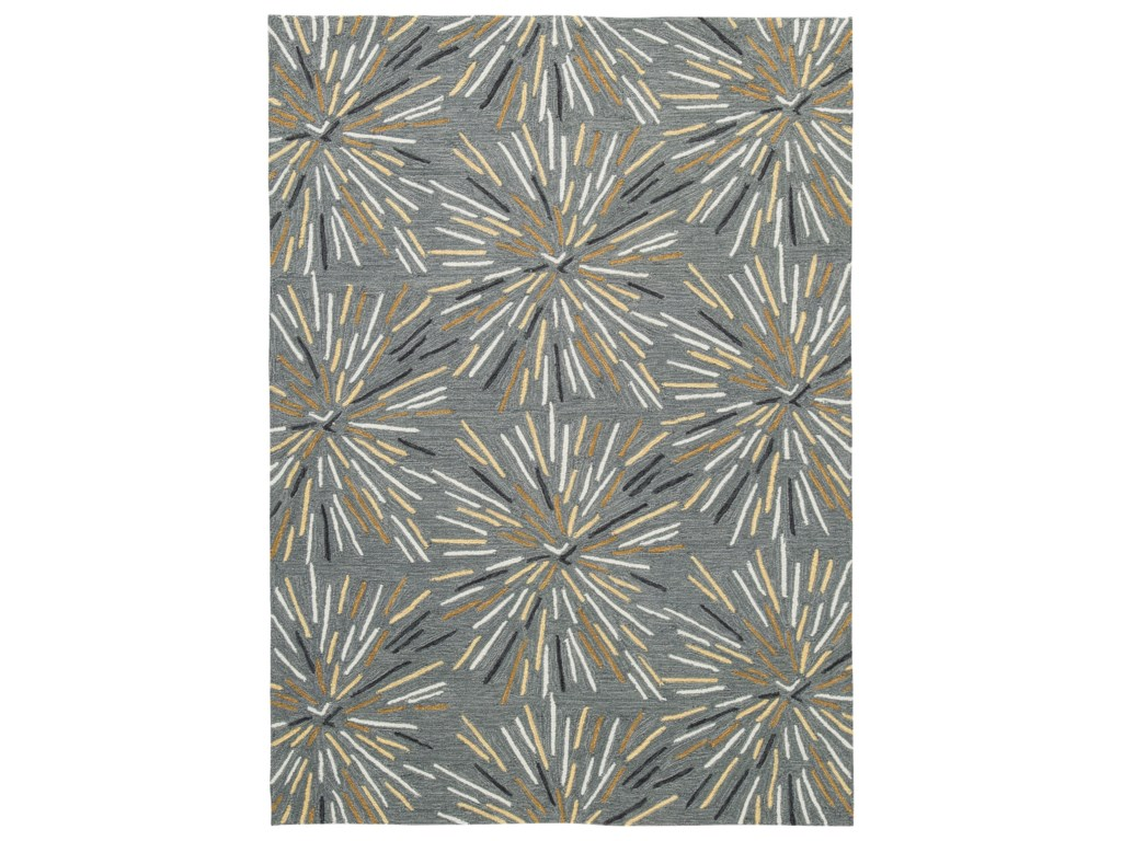 Benchcraft Contemporary Area RugsCalendre Gray Large Rug