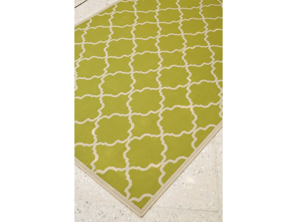 Signature Design by Ashley Contemporary Area RugsKerry Green/Cream Large Rug