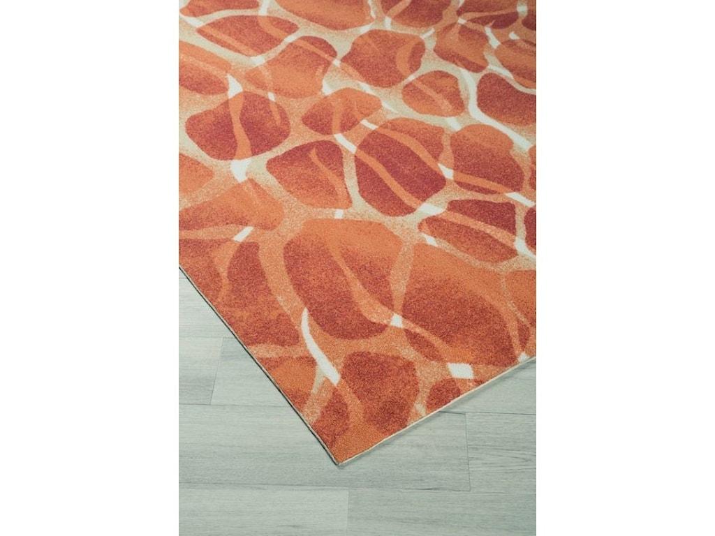 StyleLine Contemporary Area RugsMauna Red/Orange Medium Rug