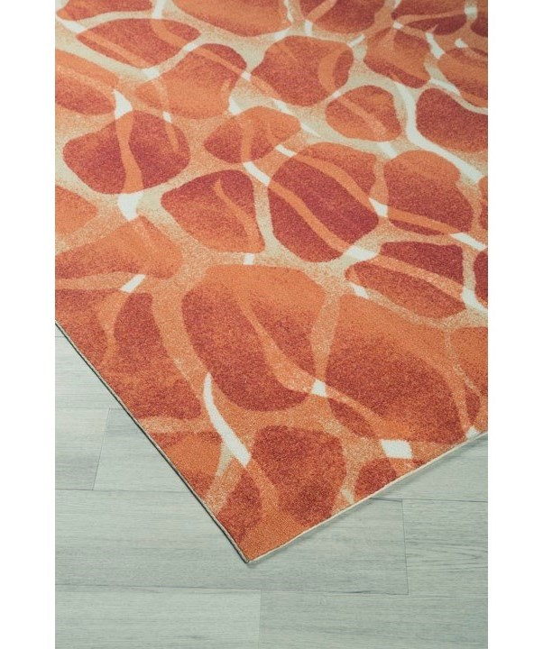 Benchcraft Contemporary Area RugsMauna Red/Orange Medium Rug